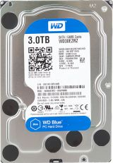 A picture of a 3.0TB Western Digital internal hard disk drive.