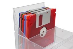floppy disk plastic storage box