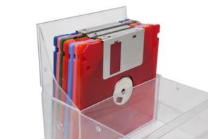 floppy disk plastic storage box