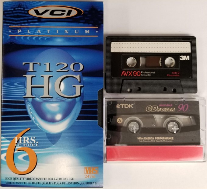 VHS cassettes and audio cassette tapes as well as other polyester-based magnetic tapes need proper magnetic tape storage conditions for good longevity.