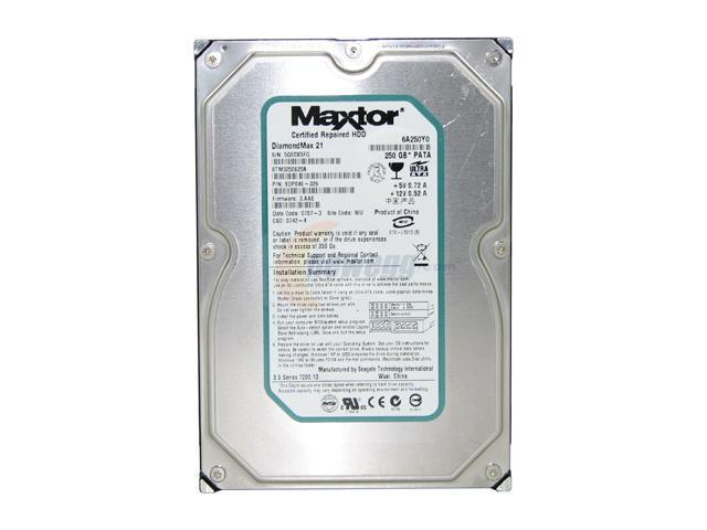 A picture of a Maxtor internal hard disk drive.