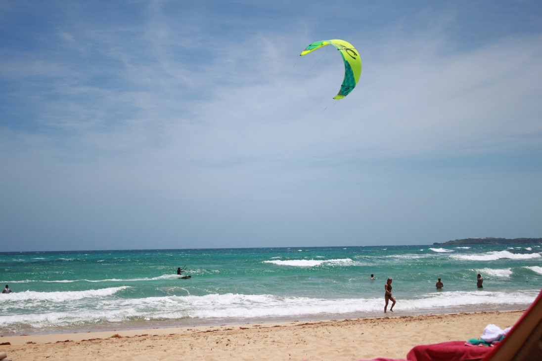 Beach in Punta Cana Dominican Republic. This and other digital photographs from vacations can be backed up by using online photo storage or cloud storage services.