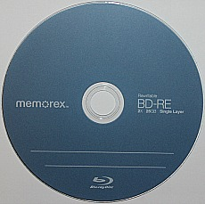 BD-RE or erasable blu-ray disc