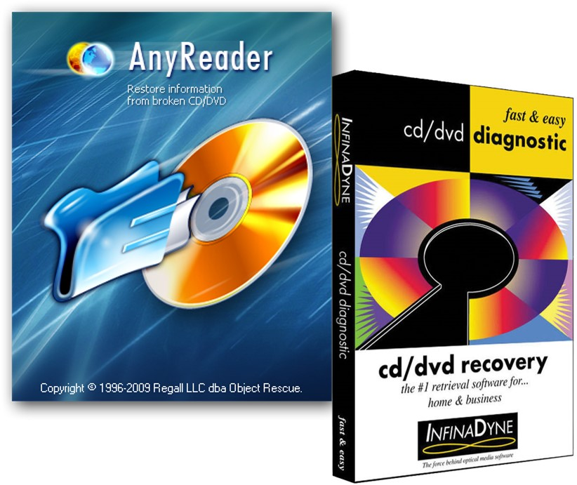 Recover data from CD software such as InfinaDyne CD/DVD Recovery and AnyReader are useful programs for recovering data from unreadable optical disc media.