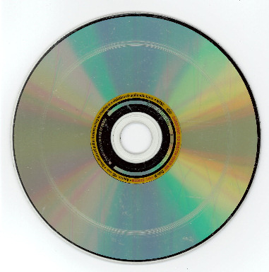 Circular scratches on a CD caused by the drive.
