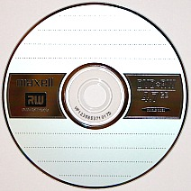 DVD+RW or an erasable and rewriteable DVD