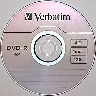 DVD-R or recordable DVD optical disc format