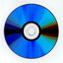 A non-archival recordable DVD or DVD-R with a silver alloy metal layer. The disc will usually appear blue or purplish blue in color when viewed by the base side.