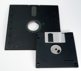 Floppy disks for digital scrapbook storage, such as the 5.25-inch and 3.5-inch formats, have very low capacity.