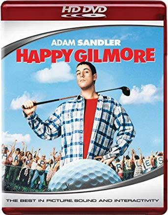 A HD-DVD or high definition movie disc of Happy Gilmore.
