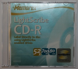 a lightscribe CD-R used for labelling