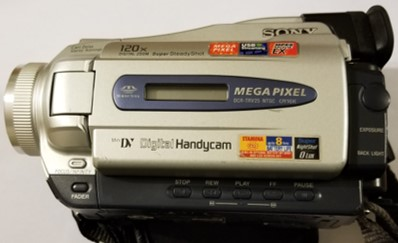 A Sony miniDV camcorder can be used as a VHS to DVD Converter in order to digitize analog video to a digital form.