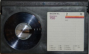Sony Betamax videotape cassette, a one time VHS competitor, has a smaller cassette size than VHS.