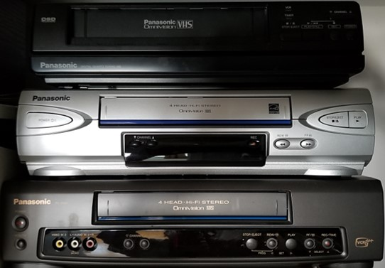 VCRs for playing VHS videotapes. When tranferring VHS to DVD or other digital video format, use the best quality VCR in the best condition to perform the transfer.