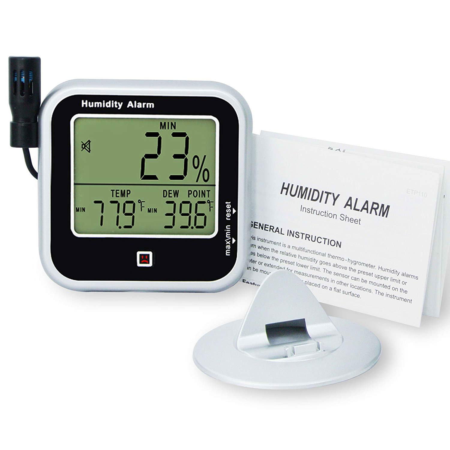 One type of temperature and relative humidity monitoring device to assess the storage environment for optical discs.