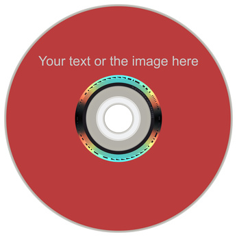 A disc with a lightscribe written label.