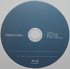 BD-RE or erasable blu-ray disc