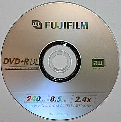 DVD+R DL is a dual layer DVD recordable disc